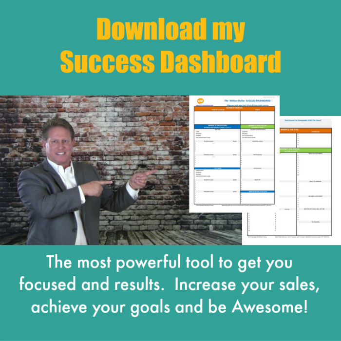 Download Mike's Success Dashboard to increase your sales & grow business